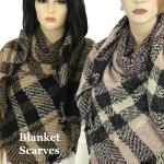 C Plaid Blanket Scarves Square