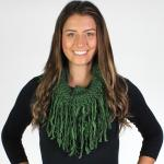 Infinity Scarves - Two Tone Texture Tasseled 8511