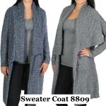 Sweater Coats - Drape 8809*