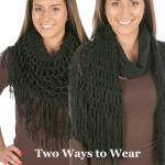 Two Way Tube Scarves - Knit 8848