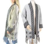 Sweater Cardigan - Geometric Pattern 0147