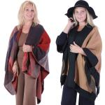 Winter Ruana Capes - Color Block & Two Tone