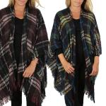 Ruana Capes - Country Style Plaid 8922