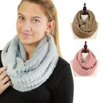 Infinity Scarves - Striped Faux Fur 9063
