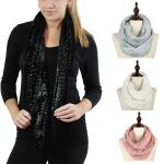 Infinity Scarves - Faux Fur Foil Dot 9220