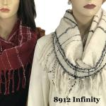 Infinity Scarves - Plaid w/ Fringe 8912