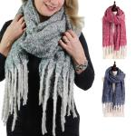 Oblong Scarves - Brushed Two Tone 9175