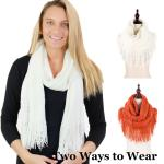 Two Way Tube Scarves - Soft Knit 8849
