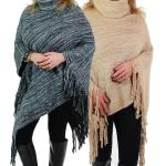 Poncho - Brushed Knit Turtleneck 9154