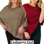 Poncho - Solid Cashmere Feel 8672