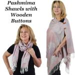 Pashmina Style Shawls with Buttons