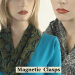 Reptile Print Scarves with Magnetic Clasp