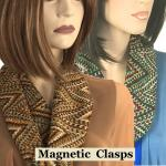 Geometric Print Scarves with Magnetic Clasp