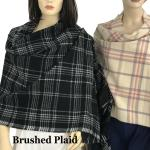 Oblong Scarves/Shawls - Brushed Plaid
