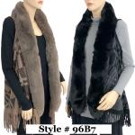 Vests - Plaid w/ Faux Rabbit Fur 96B7