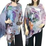 Art Design Shawls with Buttons