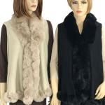 Vests - Faux Rabbit Fur Trim LC11