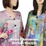 Satin Charmeuse Shawls with Buttons