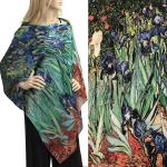 Charmeuse Art Design Shawls with Buttons