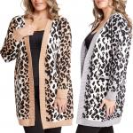Sweater Cardigan - Leopard Print 1687