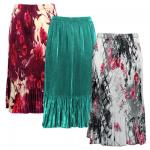 Skirts - Satin Micro Pleat - Calf Length