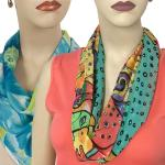 Scarves with Magnetic Clasps