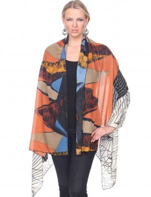 Big Scarves/Shawls - Abstract 1260