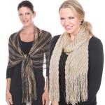 Metallic & Sequined Scarves & Shawls