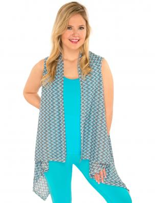Vests - Light Knit Chevron 8977