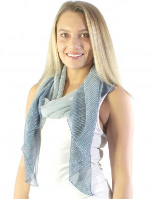 Oblong Scarves - Metallic Pleated 8221