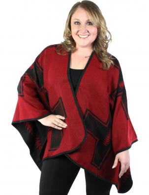 Ruana Capes - Reversible Tribal Pattern 8449
