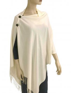 Cashmere Feel Button Shawls (Wooden  Buttons)