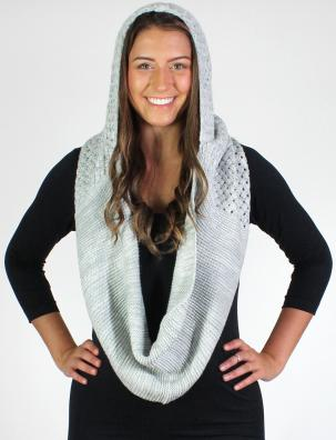 Infinity Scarves - Knitted with Hood 7042