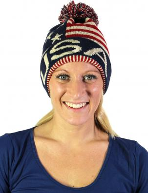 American Flag Knitted Hats and Headbands