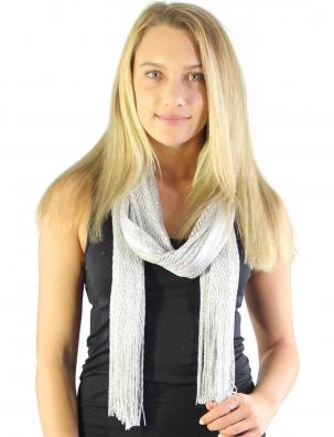Oblong Scarves - Metallic Fishnet 74""