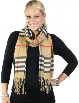 Oblong Scarves - Cashmere Feel Plaid 8200