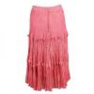 Wholesale Skirts - Long Cotton Broomstick with Pocket 503 Ankle Length - Coral - One Size (S-XL)