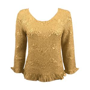 Wholesale  Gold Three Quarter Surf Crush Top - One Size (S-XL)