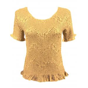 wholesale Surf Crush Tops Gold Short Sleeve -