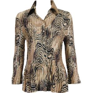 wholesale Satin Mini Pleats - Blouse Swirl Animal - One Size (S-XL)