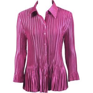 wholesale Satin Mini Pleats - Blouse Solid Orchid - One Size (S-XL)