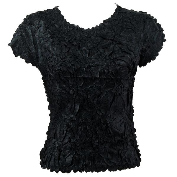 wholesale Origami - Cap Sleeve Solid Black - One Size (S-XL)