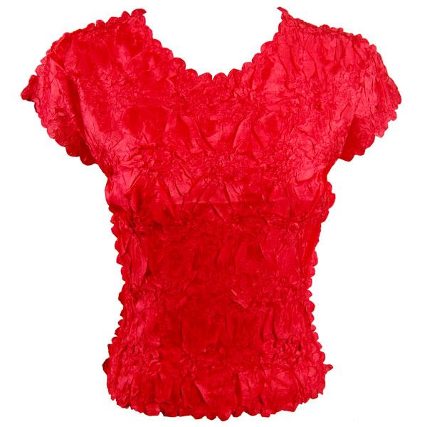 wholesale Origami - Cap Sleeve Solid Red - One Size (S-XL)
