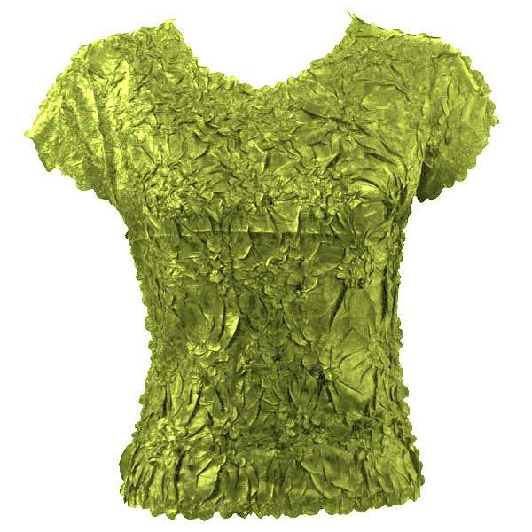 wholesale Origami - Cap Sleeve Solid Leaf Green - One Size (S-XL)