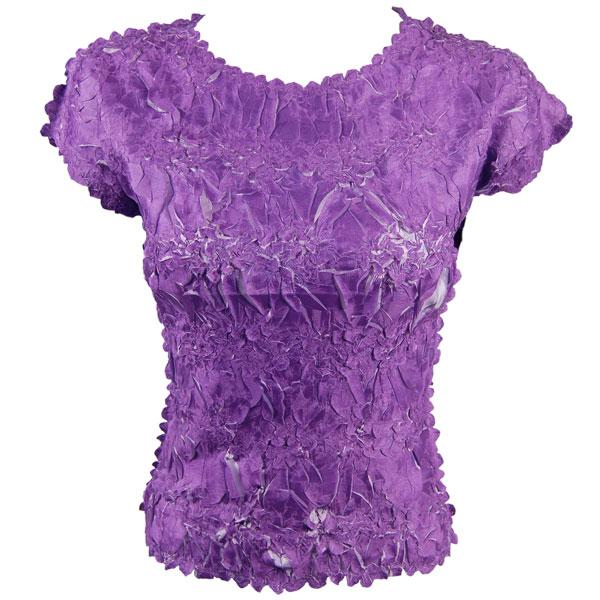 wholesale Origami - Cap Sleeve Purple - Lilac - Queen Size Fits (XL-3X)