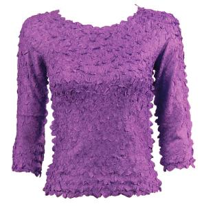 wholesale Petal Shirts - Three Quarter Sleeve Solid Purple - One Size (S-XL)
