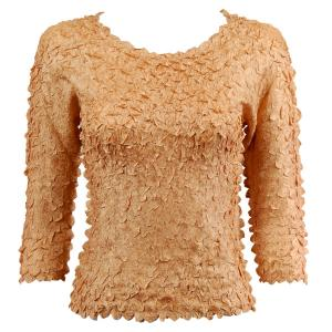 wholesale Petal Shirts - Three Quarter Sleeve Solid Gold - One Size (S-XL)