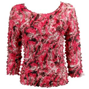 wholesale Petal Shirts - Three Quarter Sleeve Batik Pink Blush - Queen Size Fits (XL-3X)