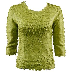 wholesale Petal Shirts - Three Quarter Sleeve Solid Sage Green - Queen Size Fits (XL-3X)