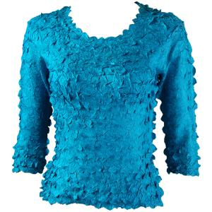 wholesale Petal Shirts - Three Quarter Sleeve Solid Teal - One Size (S-XL)